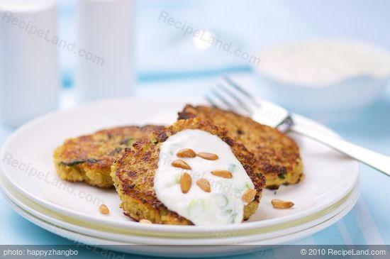 Mini Quinoa Pancakes with Lemon Yogurt Sauce