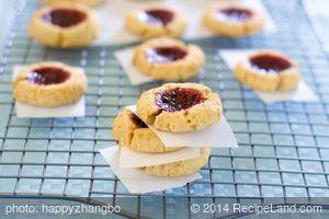 Christmas Lemon Raspberry Thumbprint Cookies