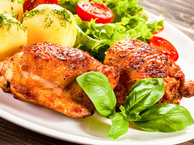 Broiled or Grilled Marinated Chicken (Gai Yang)