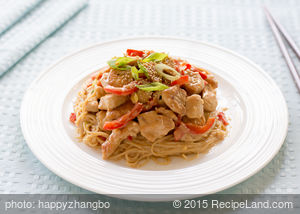 Capelli D'Angelo with Thai Chicken