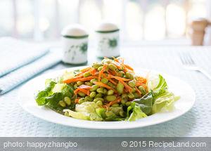 Asian Edamame and Carrot Salad