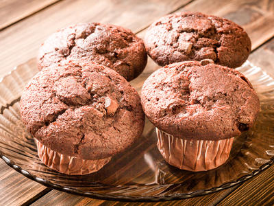 Low-fat Chocolate Muffins