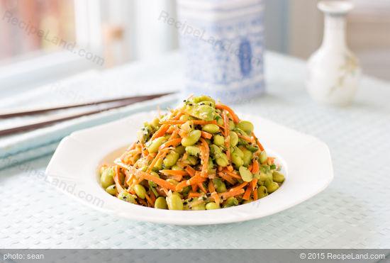 Edamame, Carrot, and Avocado Salad