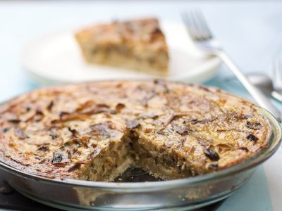 Caramelized Onion, Mixed Mushroom and Gruyere Pie