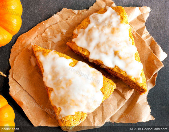 Curried Pumpkin and Ginger Scones