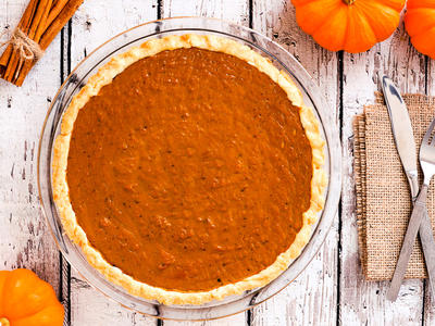 Silky Vegan Pumpkin Pie