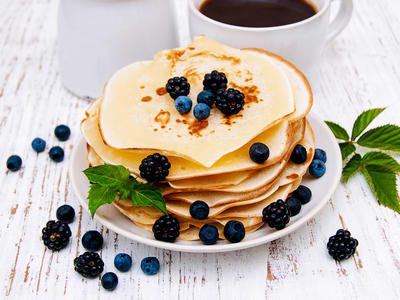Orange Matzo Meal Pancakes