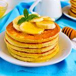 Awesome Breakfast Cornmeal Pancakes