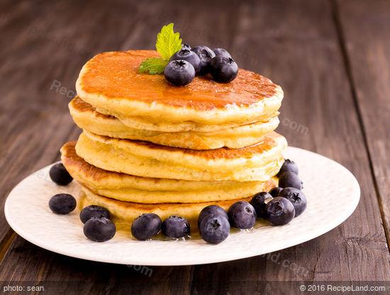 Golden Breakfast Orange Pancakes
