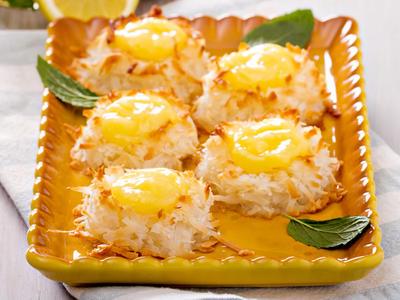 Lemon Curd Coconut Macaroons
