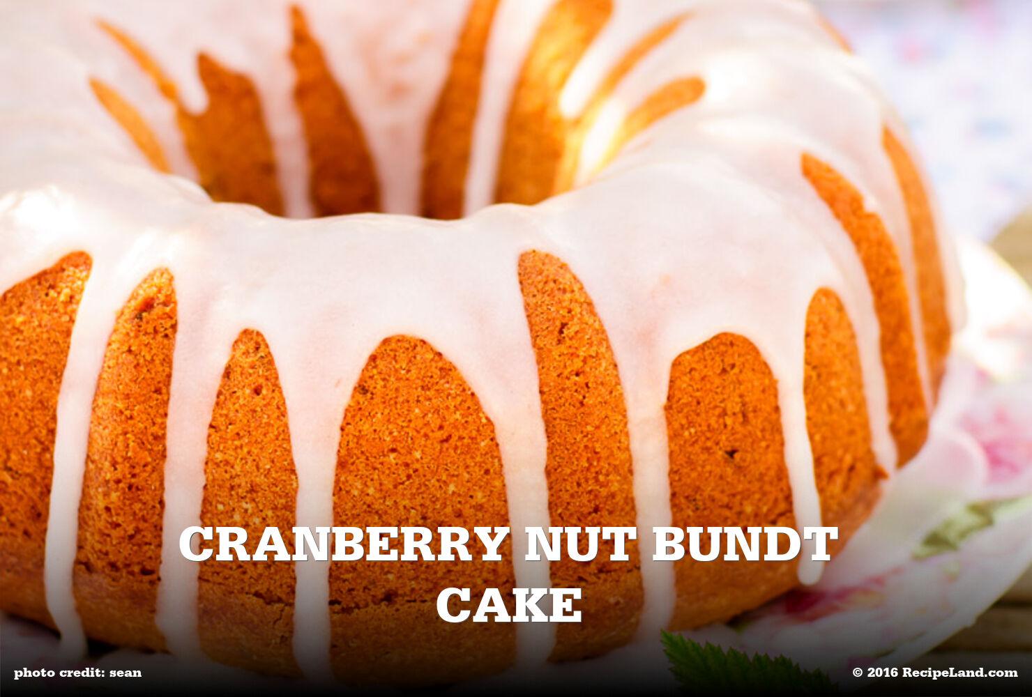 Cranberry Nut Bundt Cake