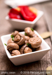 Sweet Sour Pickled Mushrooms