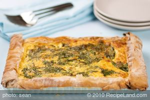 Amazing Spinach, Ricotta and Sweet Potato Tart