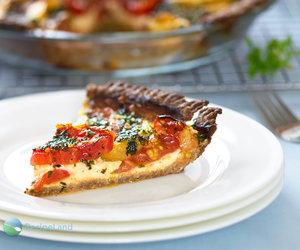 Cheesy Herbed Heirloom Tomato Pie