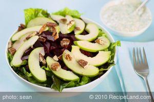 Apple Beet Salad with Creamy Diil Dressing