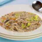 Creamy Leftover Turkey, Veggies and Wild Rice Soup