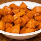 Paleo Maple Syrup Roasted Sweet Potatoes
