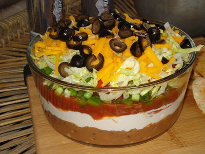 Seven Layer Taco Dip - Superbowl