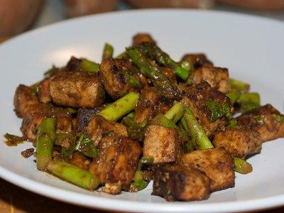 Orange and Miso Roasted Tofu and Asparagus