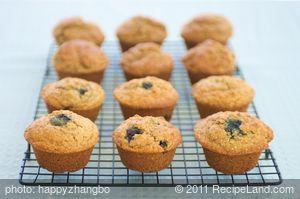 Buttermilk Bran and Blueberry Muffins