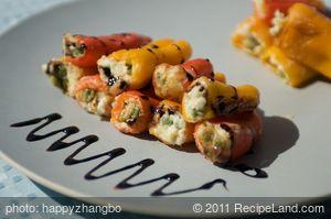 Ricotta Stuffed Sweet Baby Peppers-Vegetarian Version