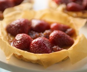 Berries and Ricotta  Mini Phyllo Tarts