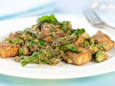 Asparagus and Tofu with Indian Spices