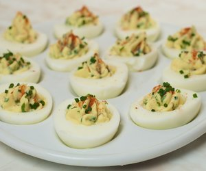 Chive Tarragon Deviled Eggs-Easter