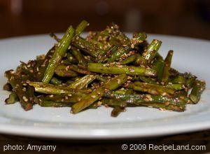 Roasted Sesame Balsamic Asparagus