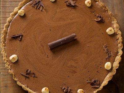 Low Fat and Whole Wheat Chocolate Hazelnut Tart