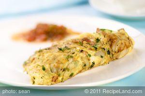Potato Ham and Herb Omelette