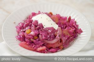 Baked Red Cabbage with Apples