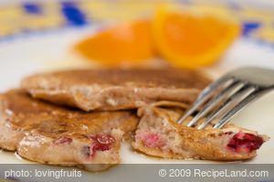 Breakfast Easy Cranberry Pancakes