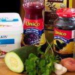 Cherry Tomato, Cucumber, Black Olives and Feta Salad