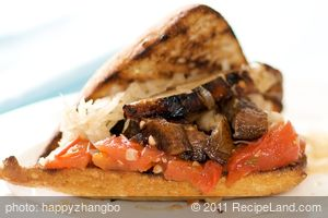 Grilled Portobello Sandwiches with Tomato Jam and Sauerkraut