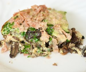 Breakfast Wild Rice and Mushroom Frittata