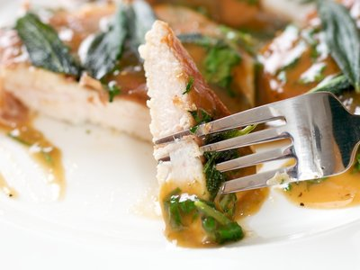 Chicken Saltimbocca (Chicken Cutlets with Prosciutto and Sage)