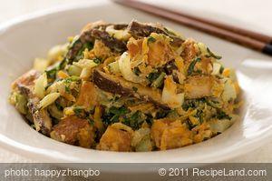 Bok Choy, Carrot and Mushroom Stir-Fry with Sesame Orange Sauce