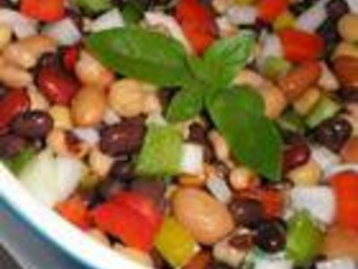 Favourite Three Bean Salad with Bacon