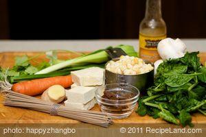 Asian Miso-Sesame Soba Stew with Tatsoi