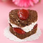 Be My Valentine Brownie Hearts