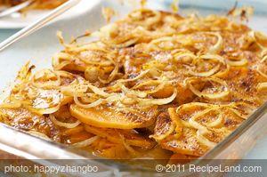 Sweet Potato, Cheese And Onion Casserole