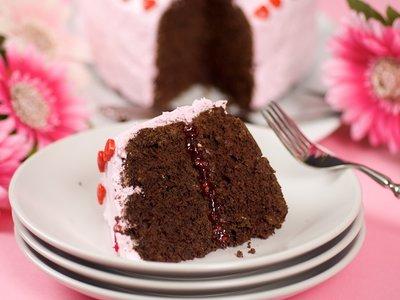 Fudgey Valentine Yogurt Cake