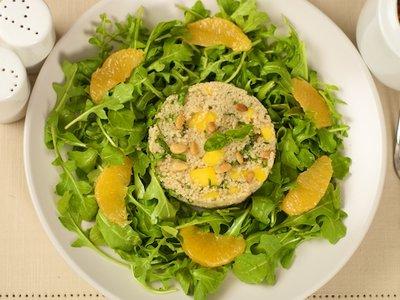 Arugula Salad Orange Couscous and Citrus Vinaigrette