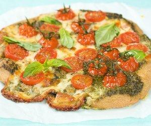 Basil Pesto Cherry Tomato Pizza