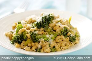 Broccoli and Macaroni with Lots of Garlic