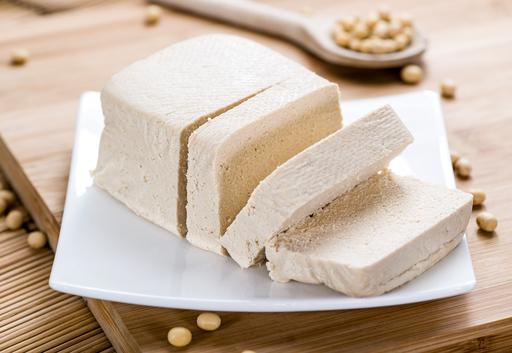 Tofu block and slices
