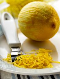 Lemon zest, lemon peel